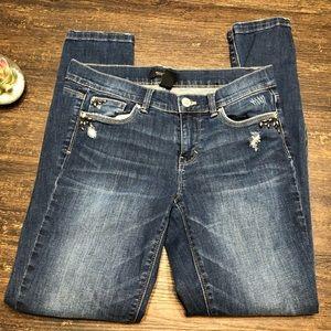 White House Black Market Embellished denim jeans